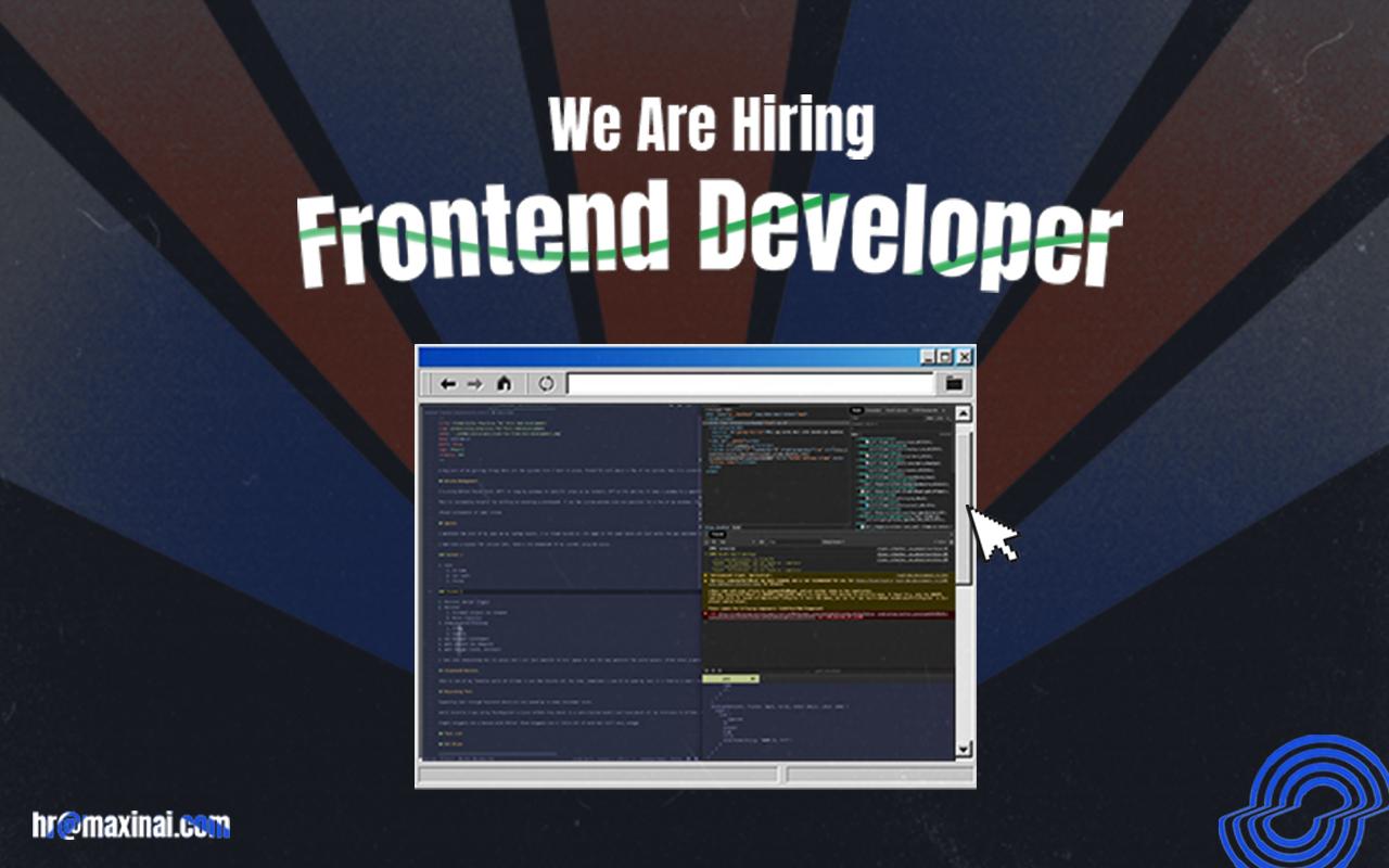 frontend developer maxinai